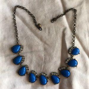 J. Crew blue statement necklace.